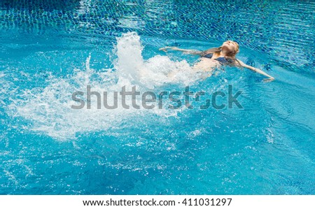 Young Man Swimming Pool Stock Photo 521117917 Shutterstock
