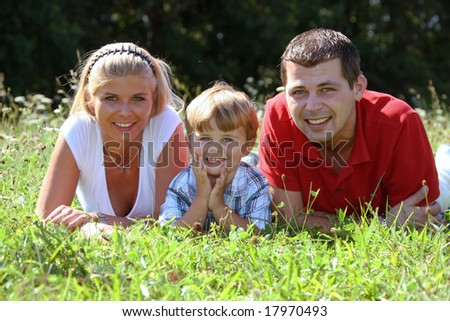 Young family with one child