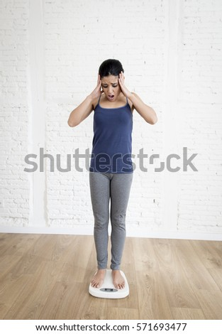 Girl Standing In A Big Empty Room