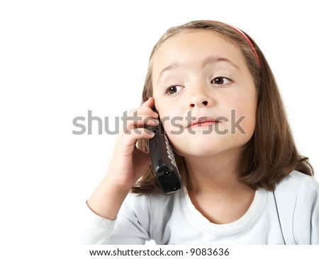 Young girl phone