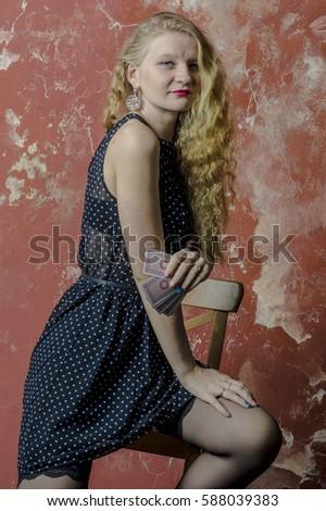 Блондинка в чулках фото с россии фото 339-176