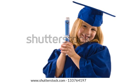 Young graduate holding diploma