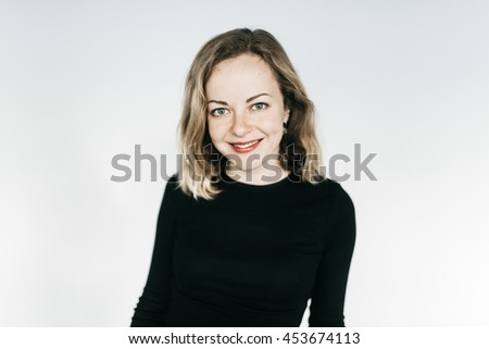 Young lady's sincere smile