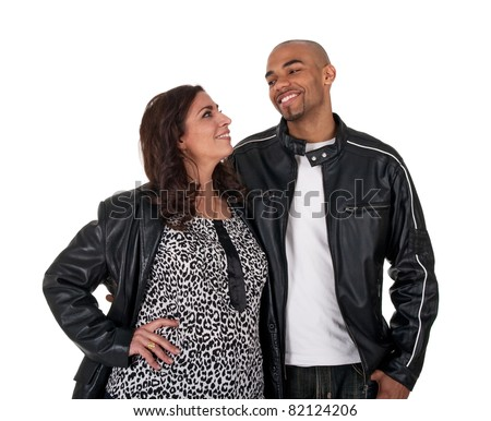 Interracial old young