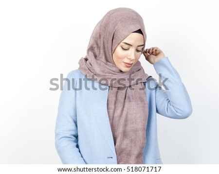 young muslim fashion women portrait