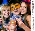 young people have fun greets holiday - stock photo