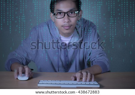 Young software engineer working