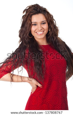 young teenager with a beautiful smile