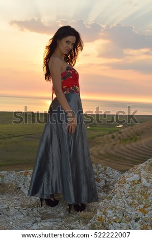 young woman portrait outdoor