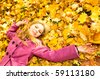 young woman resting in park - stock photo