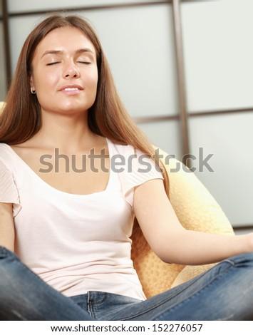 woman having abdominal pain upset stomach stock photo