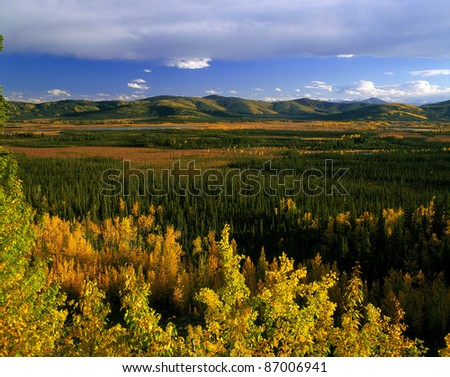 Yukon - Ogilvie Range in the fall, near Alaska