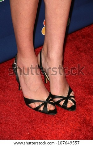 Yvonne Strahovski's shoes   At NBC's Fall Premiere Party. Boulevard 3, Hollywood, CA. 09-18-08