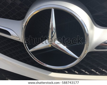 Zagreb croatia february 27 2017 mercedesbenz stock photo for Mercedes benz stock symbol