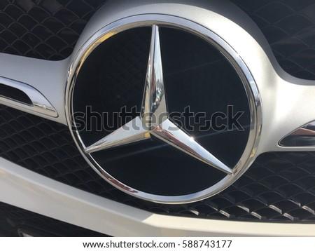 Zagreb croatia february 27 2017 mercedesbenz stock photo for Mercedes benz stock symbol