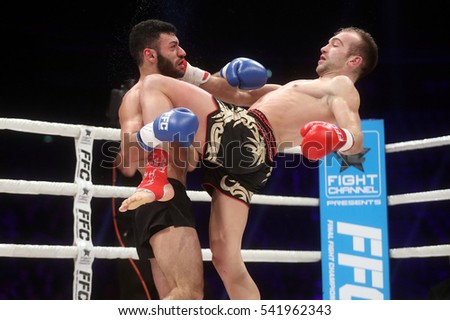 Zagreb, 17.12.2016 - Fight show FFC 27 Final Fight Championship in Arena Zagreb, December 17. 2016. FFC fight between Tigran Movsisyan (L) from Czech Republic and  Samo Petje (R) from Slovenia.