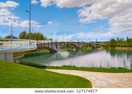 Zamora Poetas bridge over Duero river in Spain