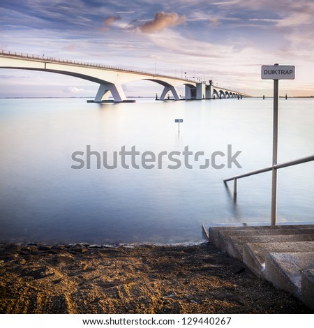 Zeelandbrug in Zeeland in The Netherlands