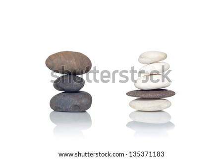 zen stones isolate sort rock layers.