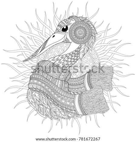Pattern Coloring Book Coloring Book Pages Stock Vector