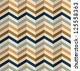 Zigzag pattern in retro colors, seamless background. Raster version. - stock photo