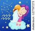 Zodiac signs - Aquarius  Illustration.jpg (EPS vector version id 126787763,format also available in my portfolio) - stock photo