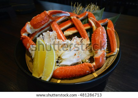 Zuwai Kani or Zuwai crab, famous steam crab from Hokkaido, Japan
