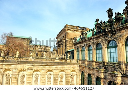 Zwinger palace, the historical place in Dresden, Germany