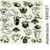 A set of 25 ornamental design elements in classic style. These are very precisely done elements, the lines are EXQUISITE and all the corners are SMOOTH. Ready for any use including vinyl-cutting . - stock vector