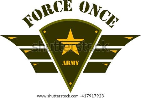 army logo template stock vector 417917893 shutterstock. Black Bedroom Furniture Sets. Home Design Ideas