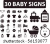 30 baby signs. Vector - stock vector