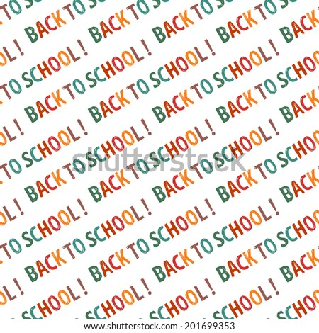 'back to school' seamless background. Hand drawn vector lettering.