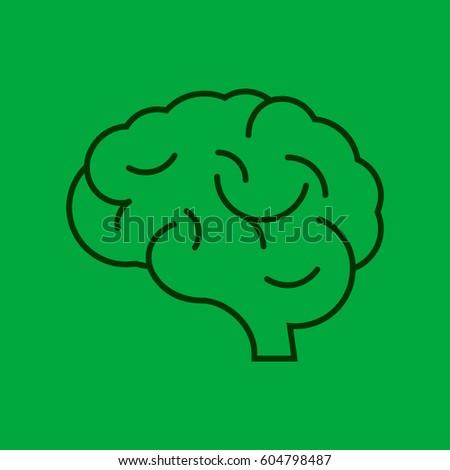 flat brain icon - photo #29