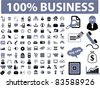 100 business icons, signs, vector illustration set - stock vector
