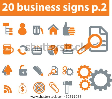 20 business signs. vector