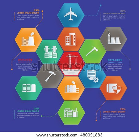 Cargo,shipping,industry info graphic design,vector