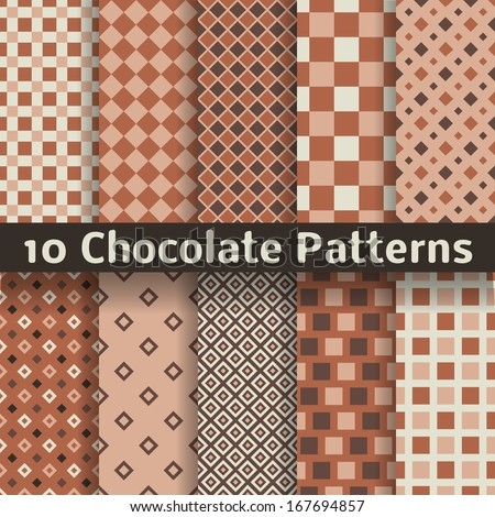 stock vector  chocolate vector seamless patterns tiling monochrome brown color endless texture can be used 167694857 - Каталог — Фотообои «Еда, фрукты, для кухни»
