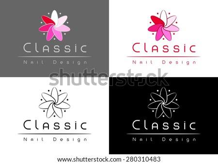 Classic nail design logo nail shapes stock vector 280310483 classic nail design logo nail shapes turned around like flower prinsesfo Choice Image