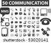 50 communication signs. vector - stock vector