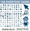 100 cute everyday signs. vector - stock vector