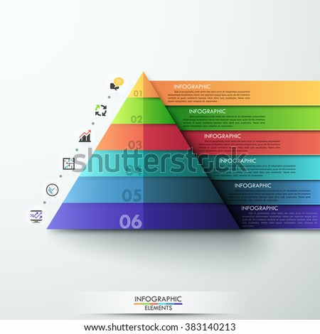 Vector Infographic Template Pyramid Stock Vector 349255457