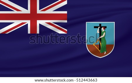 3D Waving Flag of Montserrat