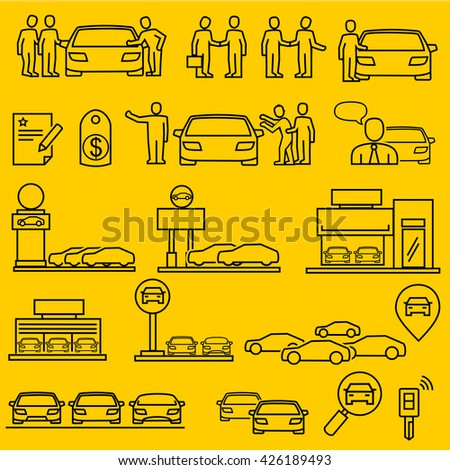Dealership car  icons