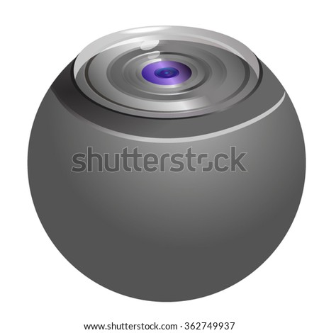 360 Degree Camera Technology.Vector illustration.