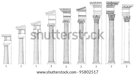 Compare and contrast Greek and Roman architecture