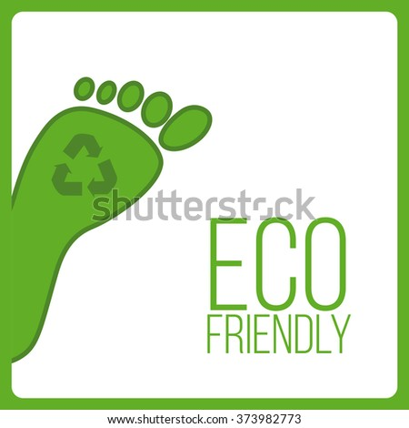eco friendly , vector green and white colors