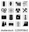 Energy icon set on white. A vector illustration - stock vector