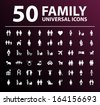 50 Family Icons. - stock