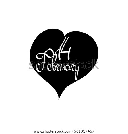 Valentines Day Isolated Calligraphy Lettering Word Stock Vector ...
