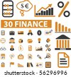 30 finance signs. vector - stock vector